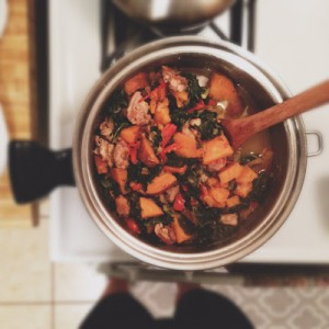 Kale & Chicken Stew