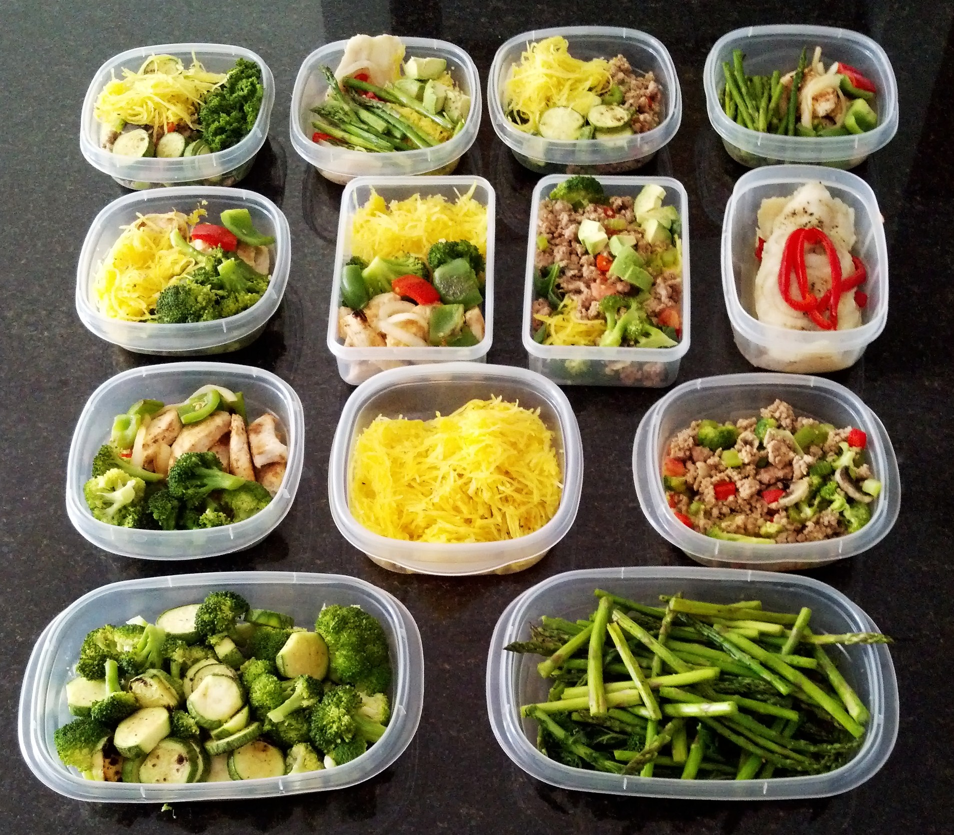 Prep paleo meals for the week
