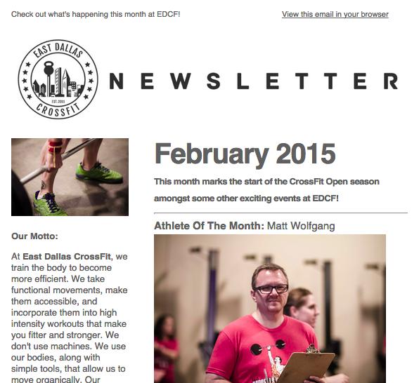 February 2015 Gym Newsletter
