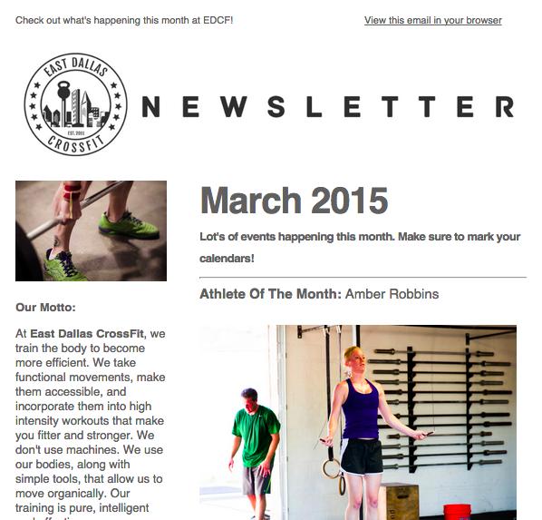 March 2015 Gym Newsletter