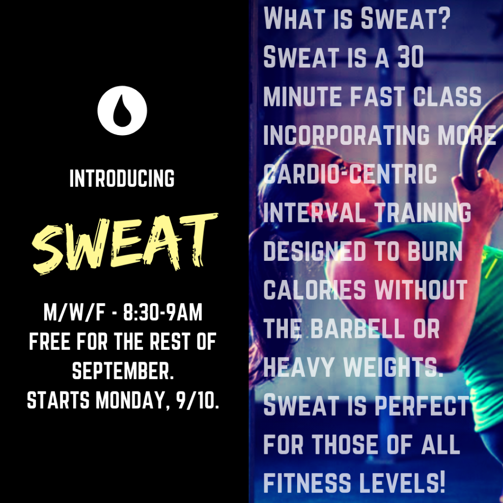 "Introducing ""SWEAT"" (Programming Overview: Sept. 4-10)"
